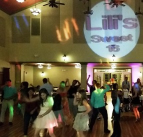 Sweet 16 party with DJ and lights