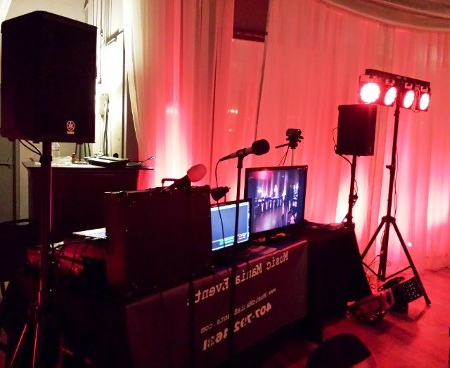 Karaoke Set Up with Lights and Live Projection to TV